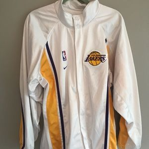 Nike authentic Los Angeles lakers warm up jacket